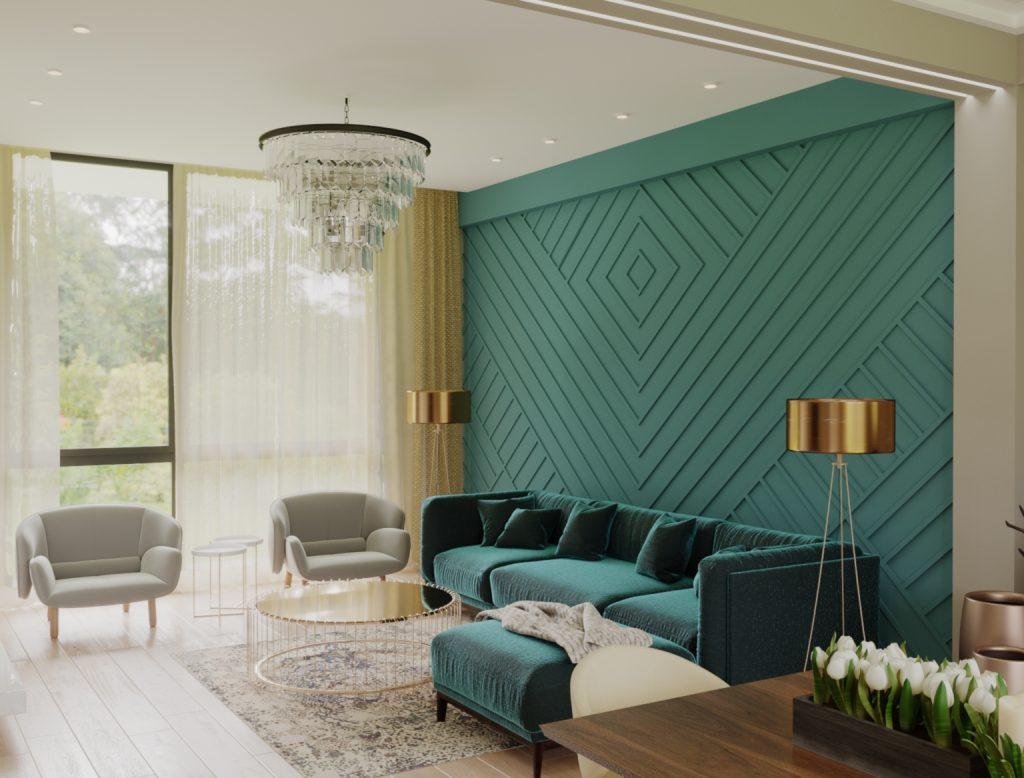 მისაღები ოთახის დიზაინი სახლი ლისზე