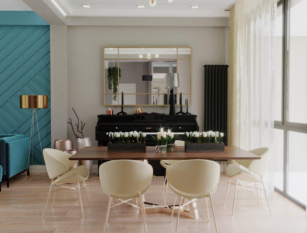 სასადილო ოთახის დიზაინი სახლი ლისზე