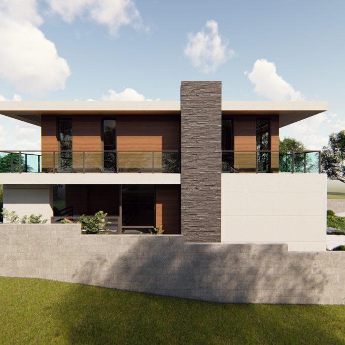 კერძო სახლი თხინვალაში – არქიტექტურული პროექტი