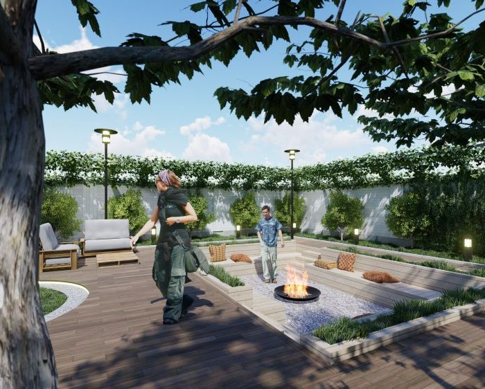 The landscape design of hotel in Tskaltubo