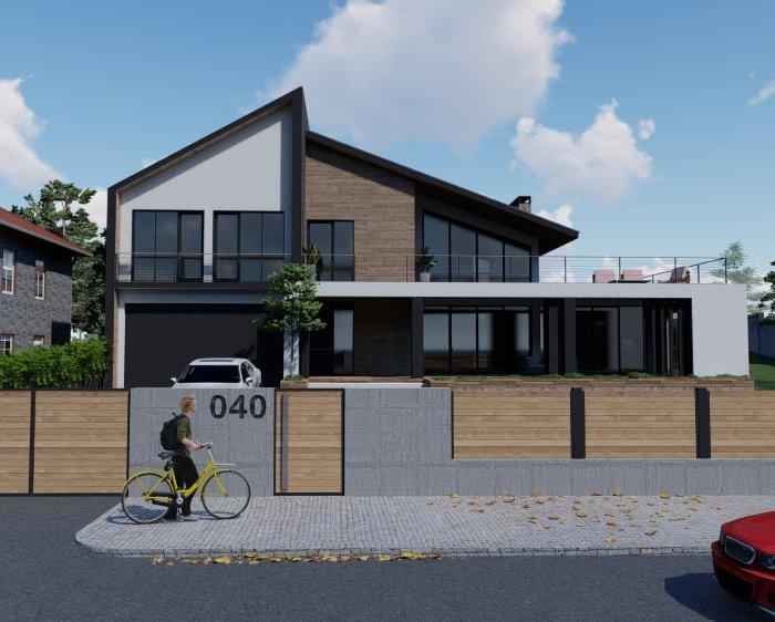 კერძო სახლის არქიტექტურული პროექტი საგურამოში