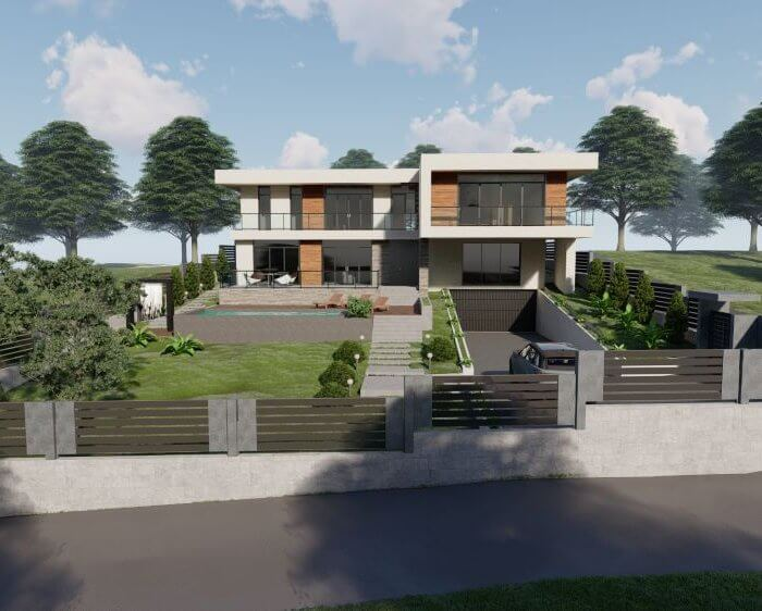 Architecture Project of private house in Tsavkisi