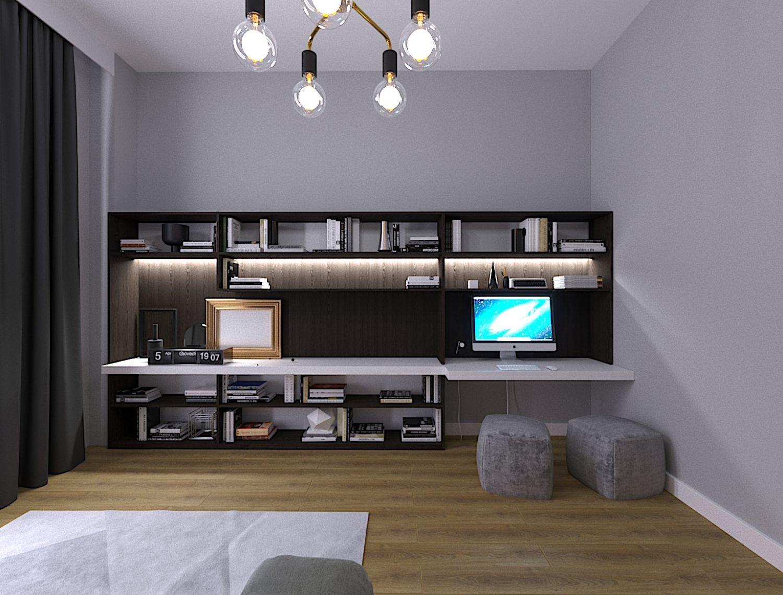 სამუშაო ოთახის დიზაინი
